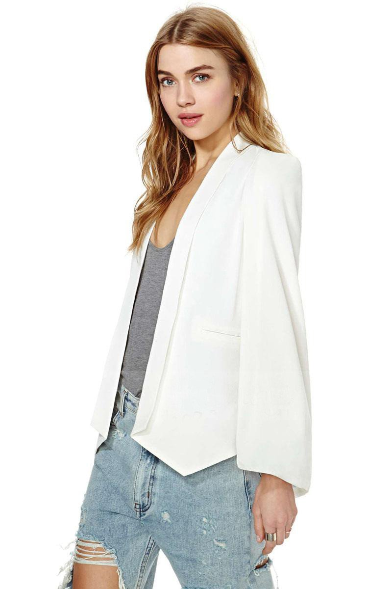 Split Sleeves Cape Suit Blazer Coat - Bags in Cart - 5