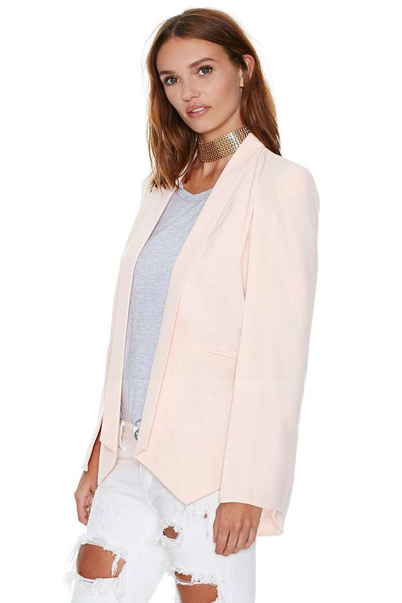 Split Sleeves Cape Suit Blazer Coat - Bags in Cart - 4