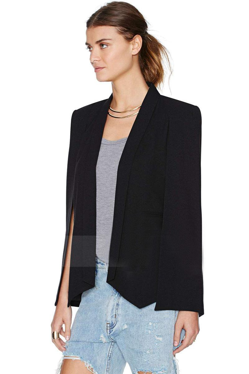 Split Sleeves Cape Suit Blazer Coat - Bags in Cart - 1