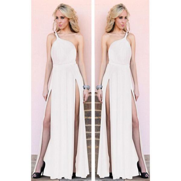 Shinning One Shoulder Backless Long Party Dress - MeetYoursFashion - 5
