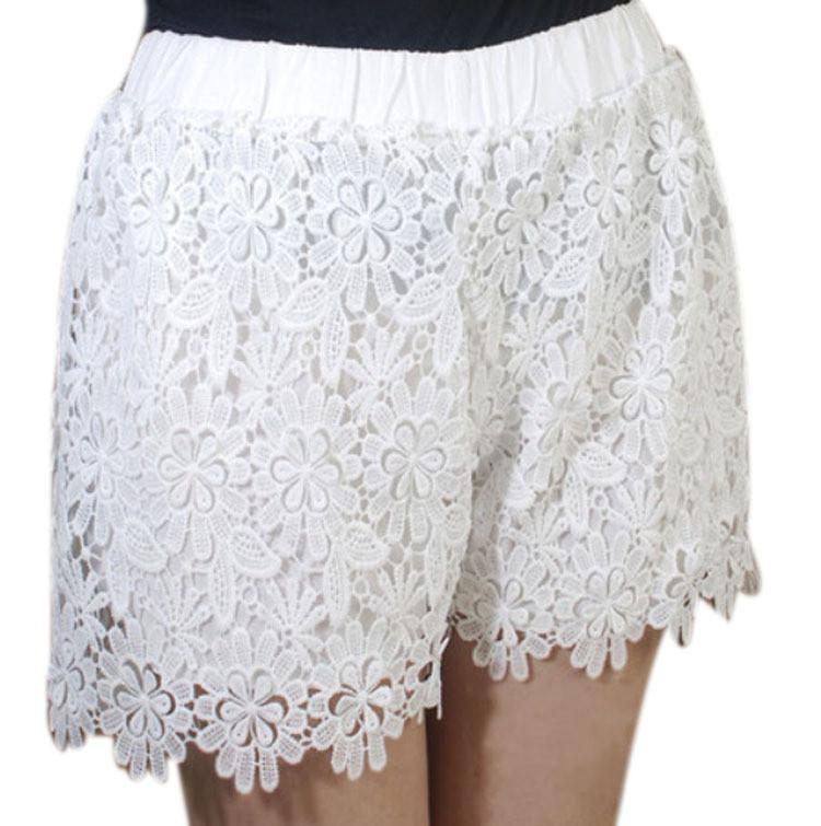Lace Elastic High Waist Sport Hot Shorts - Meet Yours Fashion - 3