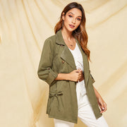 Casual Double Breasted Trench Coat