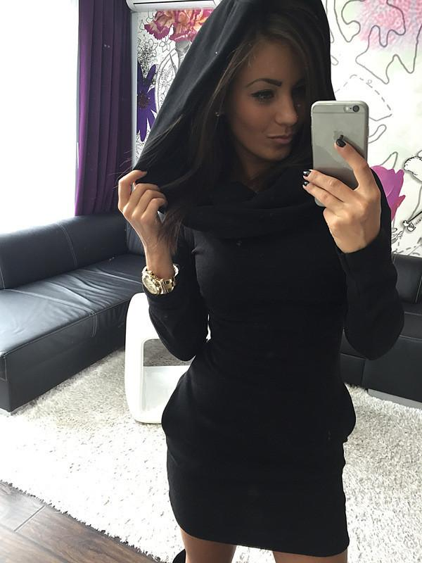 Long Sleeves Bodycon Hooded Short Sweater Activewear - MeetYoursFashion - 7