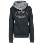 Batman Print Pocket Womens Hoodie Sweatshirt - Bags in Cart