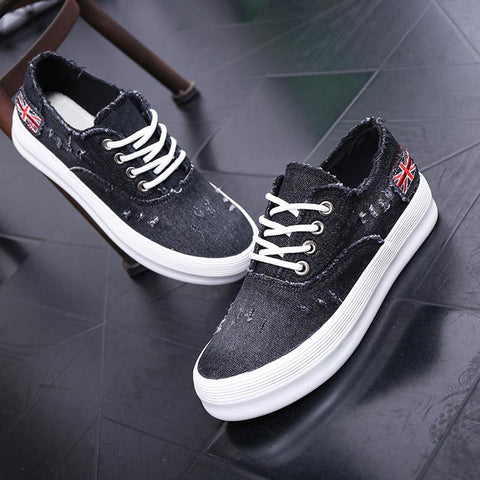 Washed Denim Sponge Lazy Single Casual Sneakers - Oh Yours Fashion - 3
