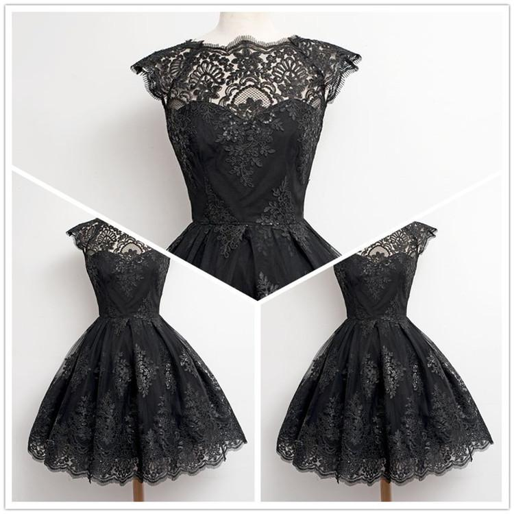 Fashion Eyelash Tassel Lace A-Line Flared Short Dress