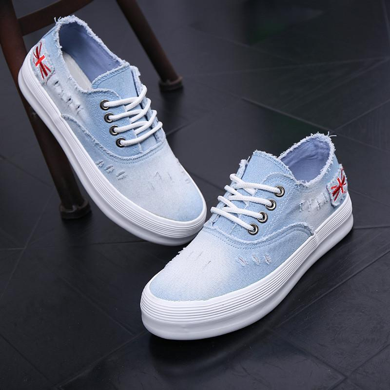 Washed Denim Sponge Lazy Single Casual Sneakers - Oh Yours Fashion - 4