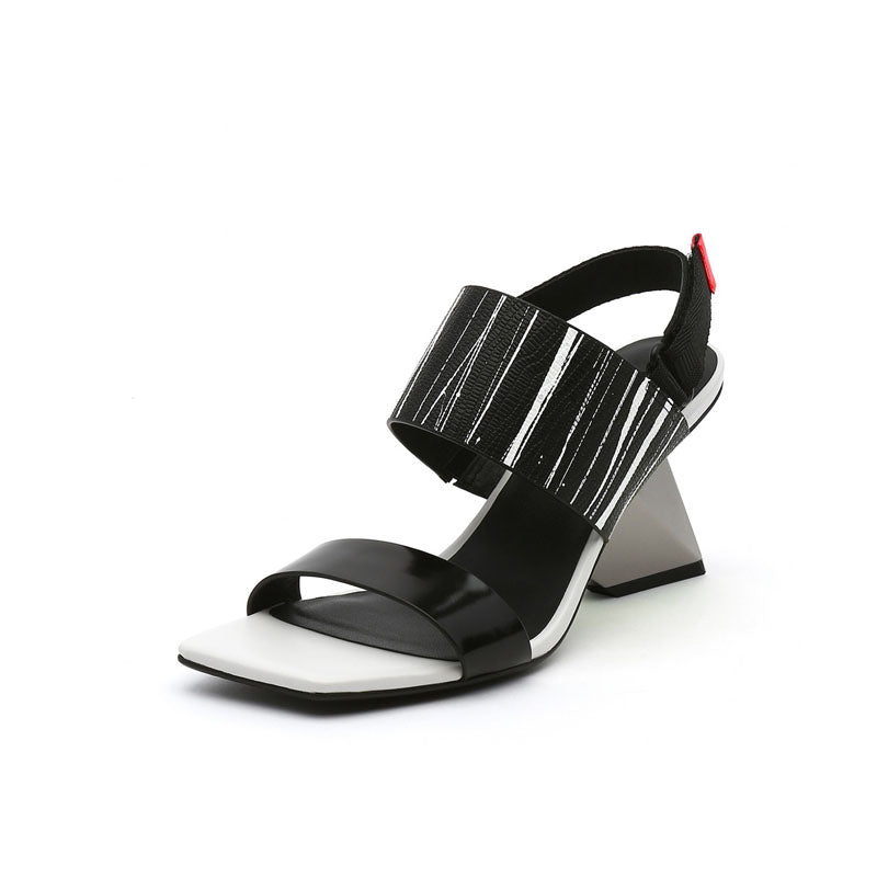 Fashion Open Toe Buckle Chunky Heel Sandals