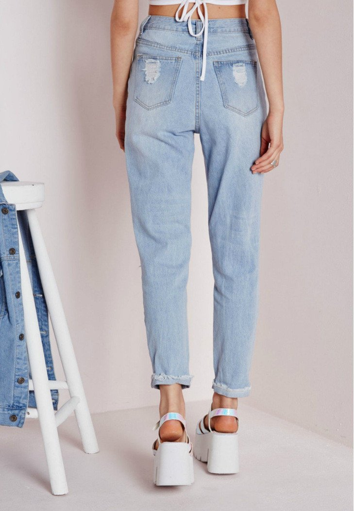 Sexy Cut Out Straight Beggar Jeans - Meet Yours Fashion - 5