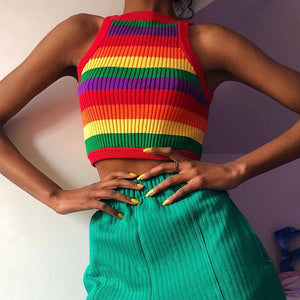 Knitted Rainbow vest