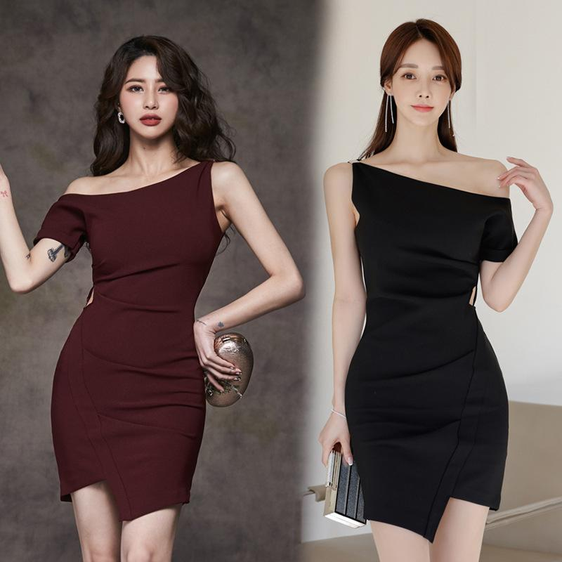 Slim Irregular Dress