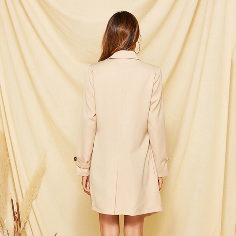 Apricot Slim Wrap Coat