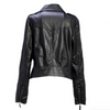 Women Black Zipper Moto Crop Slim Jacket - Bags in Cart - 5