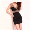 V-Neck Sleeveless Sequin Club Dress - MeetYoursFashion - 1