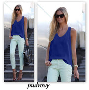 Pure Color Scoop Casual Sleeves Street Chic Vest - Bags in Cart - 7