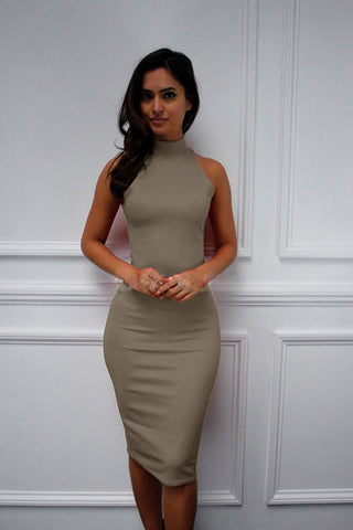 Simple Sleeveless Stretch Sexy Party Dress