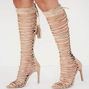 High Heel Boot Pointed Toe Sandals