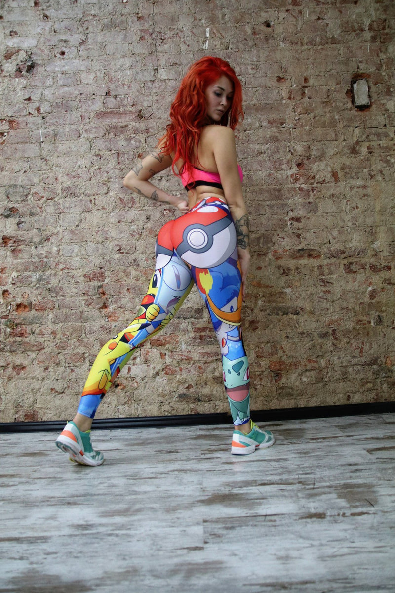 Fashion Pokemon Go Print Sports Women's Leggings