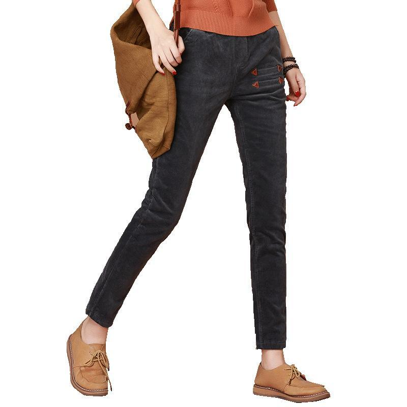 Velvet Thick Warm Casual Long Harem Pencil Casual Pants