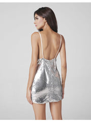 Sexy Backless Sequins Spaghetti Strap Dress