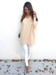 Fashion V-Neck Long-Sleeve Sweater
