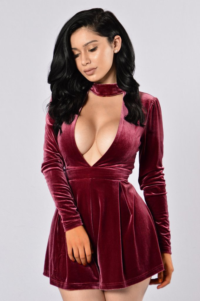 Sexy Halter Deep V-neck Long Sleeves High Waist Short Jumpsuits
