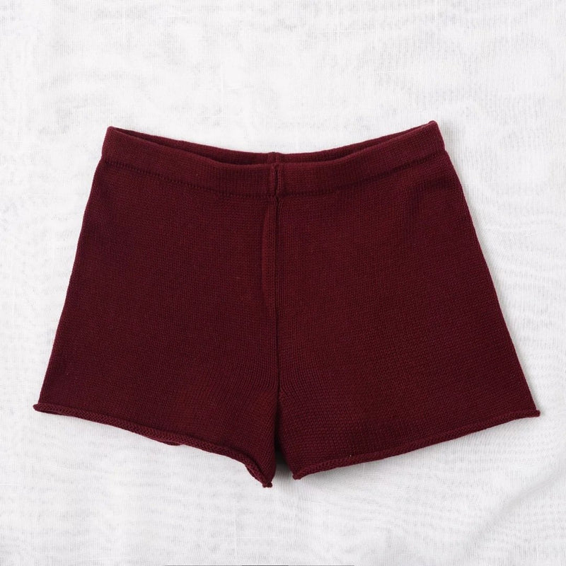 Pure Color High Waist Sexy Slim Shorts