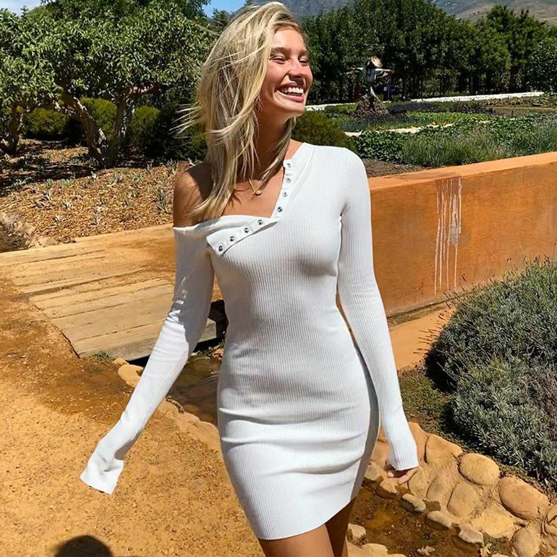 Free Shipping Off Shoulder Long Sleeve Party Dress