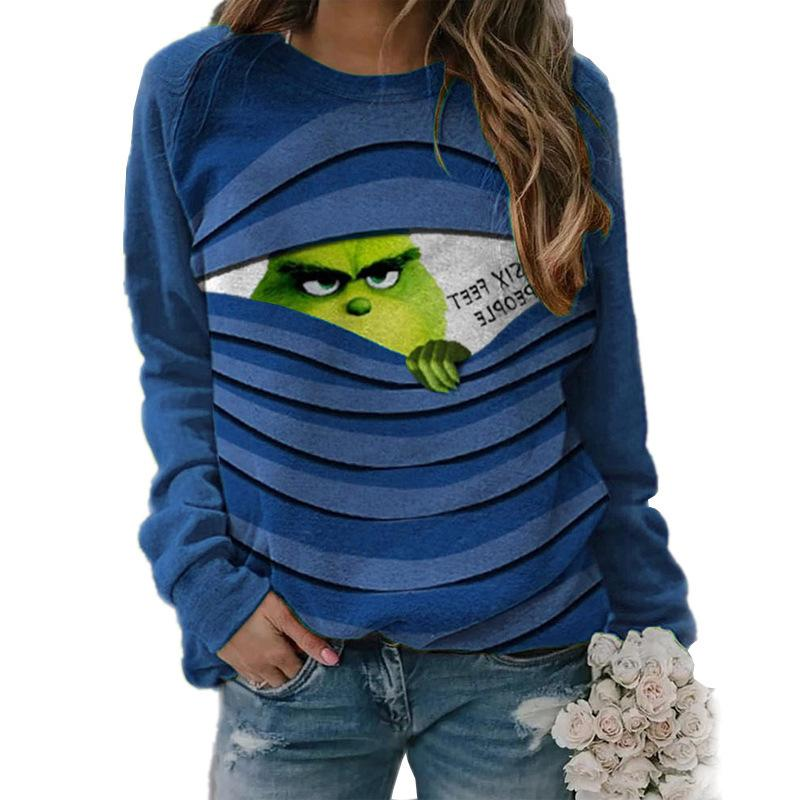 3D Print Women Scoop Christmas Party Sweatshirt