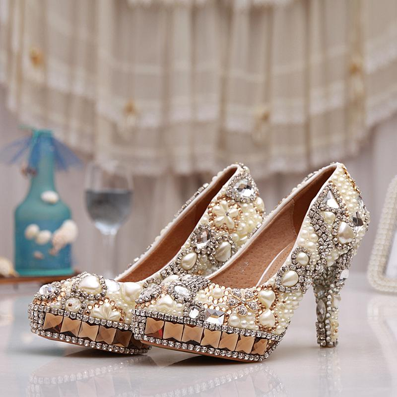Champagne Diamond Wedding Shoes