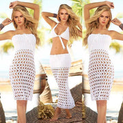 Knitted Openwork Sexy Bikinis Cover Up Dress