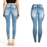 Sexy Stretch Pockets Skinny Bodycon Denim Pants