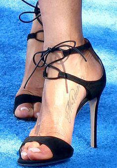 Black Strap High Heel Peep Toe Sandals