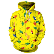 Lights Digital Print Women Christmas Hooded Hoodie