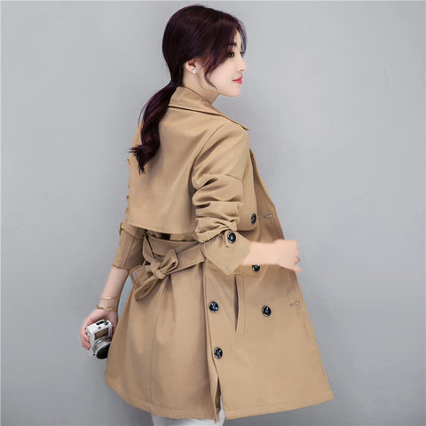 Double Breasted Midi Trench Coat
