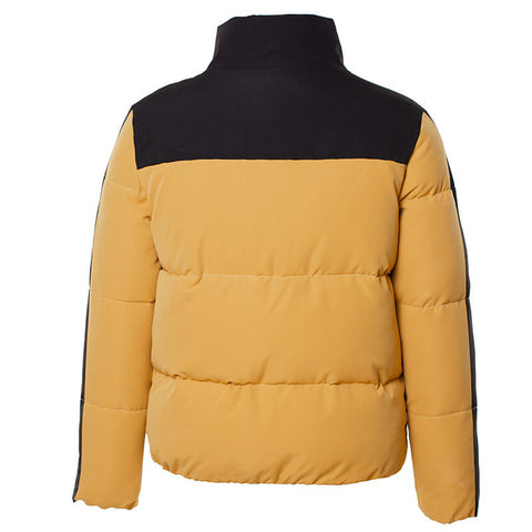Turtleneck Colorblock Down Jacket