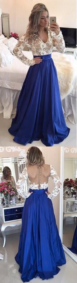 Backless V-neck Splicing Lace Hollow Out Long Party Dress - Oh Yours Fashion - 2