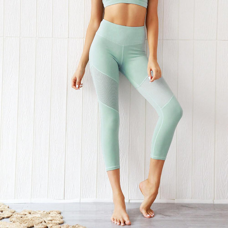 Green Tank Top High Waist Bodycon Skinny Pant Sets