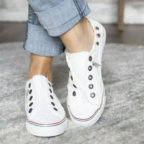 Comfortable Slip On Round Toe Canvas Sneakers