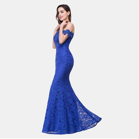 Off Shoulder Mermaid Long Party Prom Dress