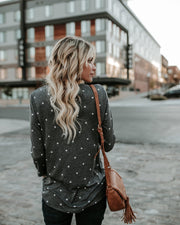 Polka Dot Print Loose Long Blouse