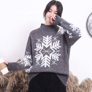 Christmas Snow Mock Neck Sweater