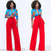 Strap High Waist Candy Color Loose Wide-leg Long Pants