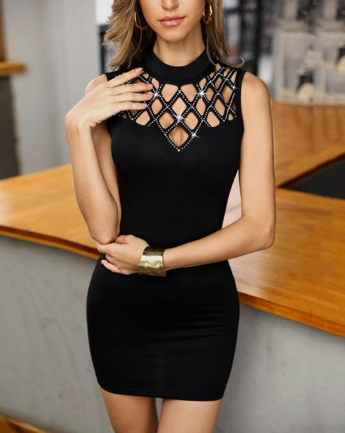 Cut out Diamond Party Dress