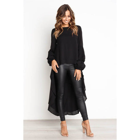 Irregular Long Sleeves Loose T-shirt