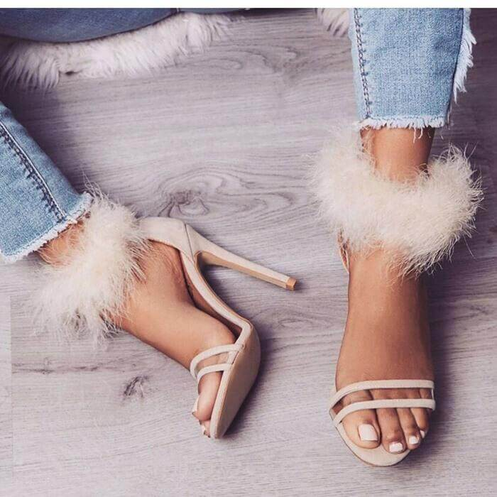 High Heel Pointed Toe Open Toe Sandals