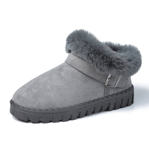 Ankle Snow Round Toe Suede Casual Boots