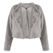 Plain Faux Fur Shearling Jacket