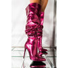 Party PU Pointed Toe High Heel Zipper Over Knee Boots