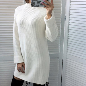 Long Sleeve Sweater Bodycon Dress